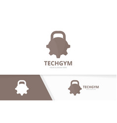 Sport and gear logo combination gym and vector