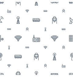 station icons pattern seamless white background vector image