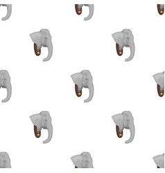 Stuffed elephant headafrican safari single icon vector