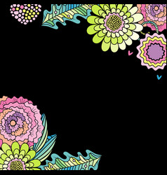 succulent flower rose and leaf decoration vector image