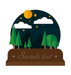 Summer night camping landscape vector