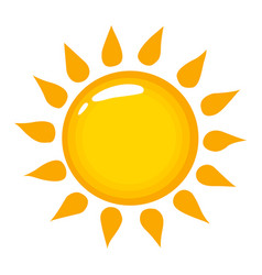 Sun icon on a white background shining vector