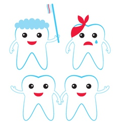 teeth characters vector image