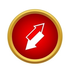 Two arrows are directed toward each other icon vector