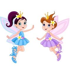 Two cute fairies vector