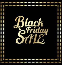 typography black friday vector image