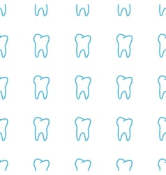 Unique Tooth seamless pattern vector image
