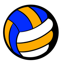 volleyball ball icon icon cartoon vector image