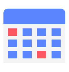 wall calendar icon flat style vector image