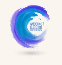 watercolor circle texture circle elements vector image