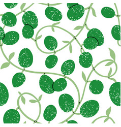 wax plant liana pattern vector image