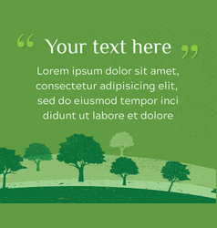Web banner of clean green environment with grunge vector