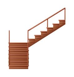 Wooden staircase iconcartoon icon vector