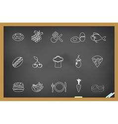 Food icon on blackboard vector image vector image