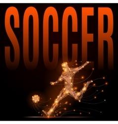 Soccer player polygonal vector image vector image