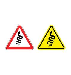 Warning sign of attention venomous snake Hazard vector image vector image