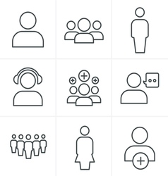 line icons 3x3 000041 vector image vector image