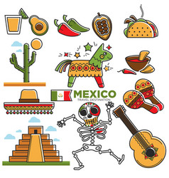 Mexican lifestyle template in traditional vector