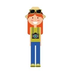 tourist man traveler icon vector image vector image