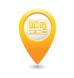 Atm icon yellow pointer vector