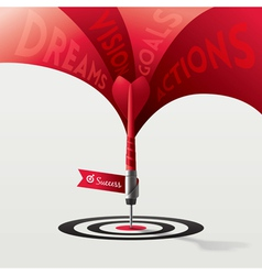 Dart Target Success Business Concept vector image vector image