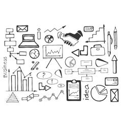 Doodle set of business vector image