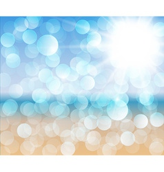 Sunny beach - abstract vector image vector image