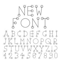 alphabet set with numerals vector image vector image
