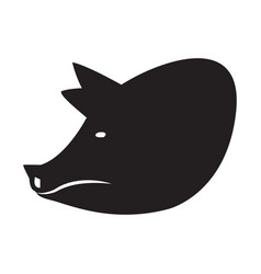 pig head silhouette vector image