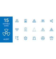 15 alert icons vector