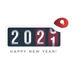 20201 new year analog counter display retro vector image