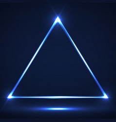 abstract neon triangle with glowing lines vector image