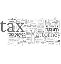 alabama attorney tax vector image