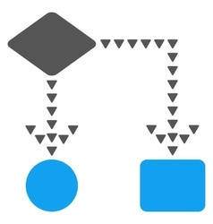 Algorithm Flowchart Flat Symbol vector