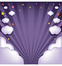 Background With Clouds And Stars vector