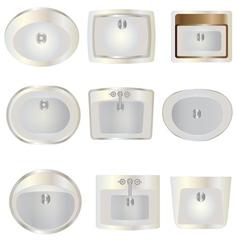 Bathroom wash basin top view set 10 for interior vector