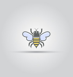 Bee isolated colored icon vector