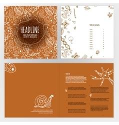 Biology Brochure Design vector