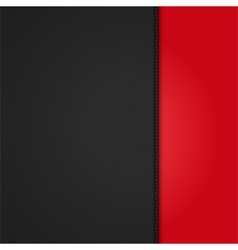 black leather background panel on red vector image