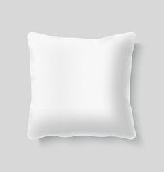 Blank white square realistic pillow cushion vector