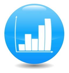 Blue chart icon vector