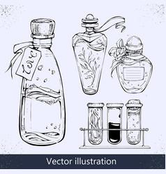 Bottle love elixir grunge romantic vector