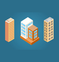 buildings set with roofs vector image