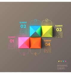business infographics pyramid concept top view 3d vector image