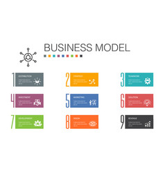 Business model infographic 10 option line concept vector
