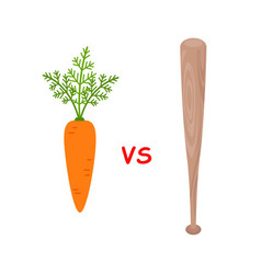 Carrot versus baseball bat motivation metaphor vector