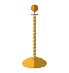 Cartoon post warning light fence vector