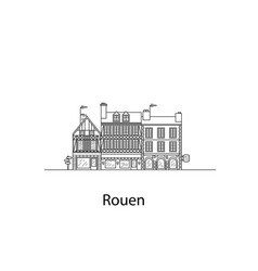 cities of normandy rouen european houses vector image