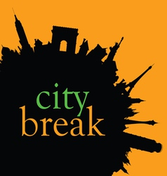 city break color vector image