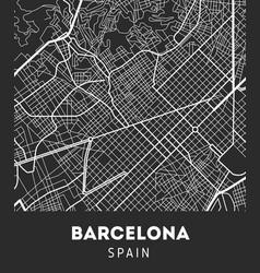 City map of barcelona vector